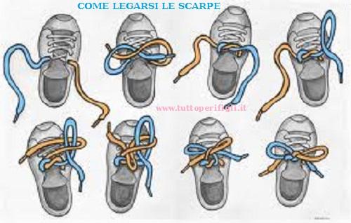 come legarsi le scarpe