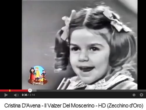Cristina d'Avena canta il valzer del moscerino
