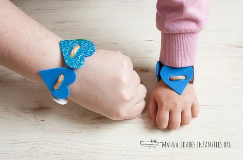 braccialetti di cuori per la festa della mamma