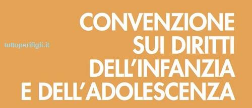 convenzione sui diritti dell'infanzia e adolescenza
