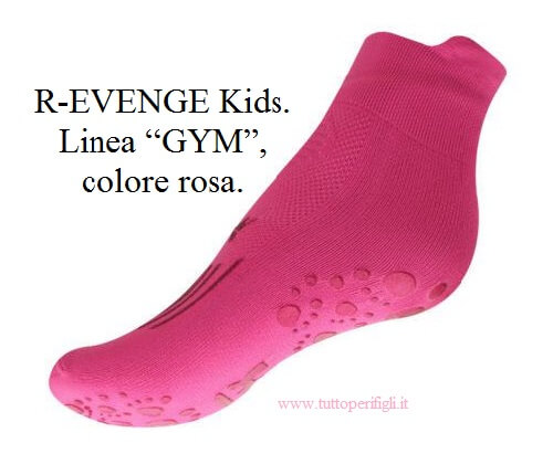 "R-EVENGE Kids. Linea ""GYM"", colore rosa."