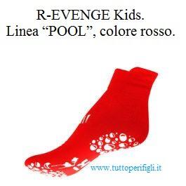 "R-EVENGE Kids. Linea ""POOL"", colore rosso."