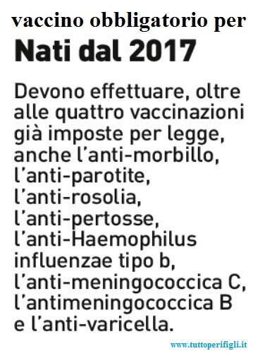 vaccino nati dal 2017