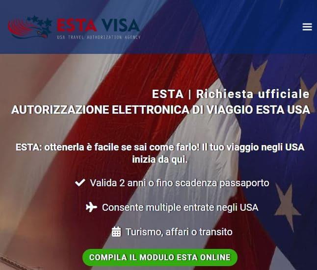 ESTA  autorizzazione elettronica ingresso negli USA